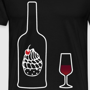 Wine Uncorked Dessert - Men's Premium T-Shirt