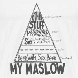 Maslow Pyramid of Needs - Men's Premium T-Shirt