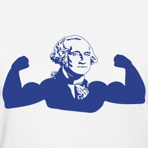 Muscle George Washington Women's T-Shirts - Women's T-Shirt