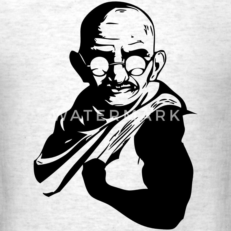 Muscle Gandhi T-Shirts - Men's T-Shirt