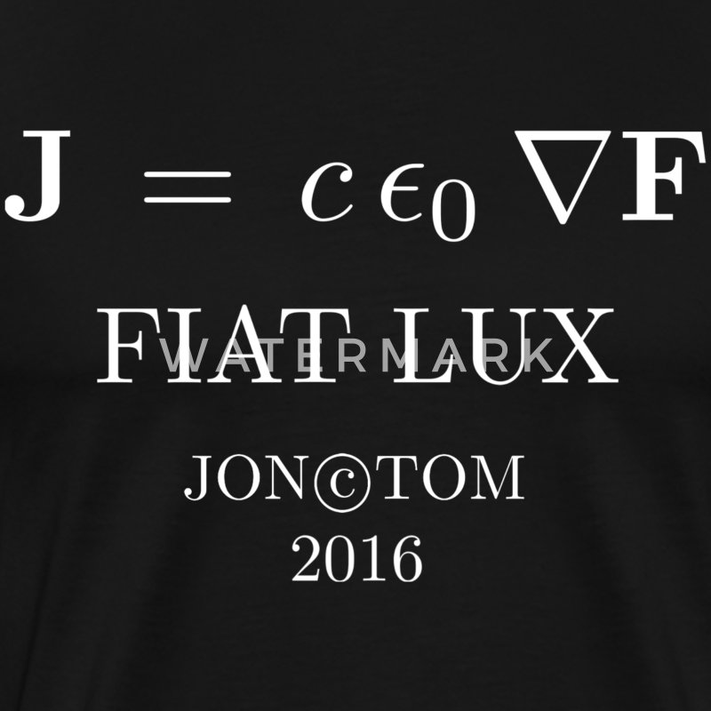 Fiat Lux on black - Men's Premium T-Shirt