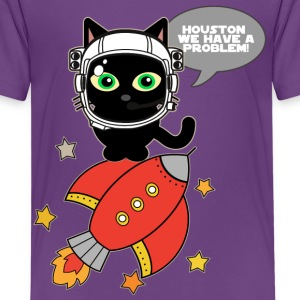 Space Cat - Houston we have a problem - Kids' Premium T-Shirt