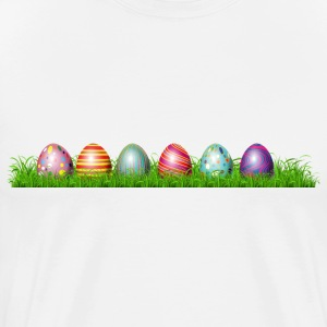 Easter eggs in grass - Men's Premium T-Shirt