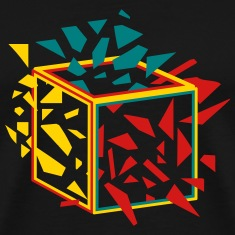 exploding cube T-Shirts