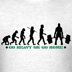 GO HEAVY OR GO HOME GYM DEADLIFT EVOLUTION T-SHIRT - Men's T-Shirt
