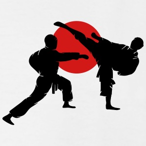 two karate fighter  T-Shirts - Men's Tall T-Shirt