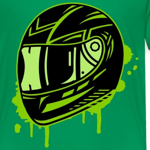 Motorcycle helmet graffiti Baby & Toddler Shirts - Toddler Premium T-Shirt