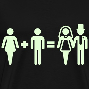Bride + Groom = Bridal Pair (Wedding / Marriage) T-Shirts - Men's Premium T-Shirt