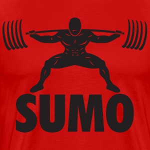 Sumo Powerlifting Squat T-Shirts - Men's Premium T-Shirt