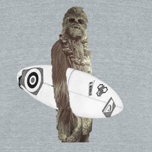 Wookie Surf - Unisex Tri-Blend T-Shirt by American Apparel