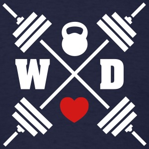 Weights Cross Kettlebell Heart T-Shirts - Men's T-Shirt