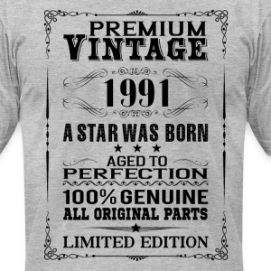 PREMIUM VINTAGE 1991 T-Shirts - Men's T-Shirt by American Apparel