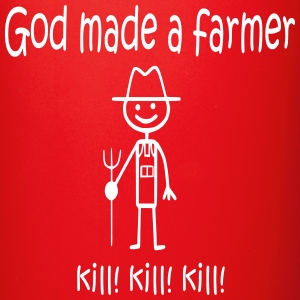 God Made a Farmer KILL KILL KILL Mugs & Drinkware - Full Color Mug