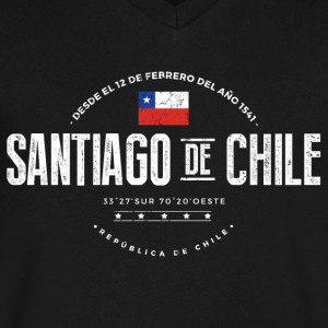 Santiago de Chile T-Shirts - Men's V-Neck T-Shirt by Canvas