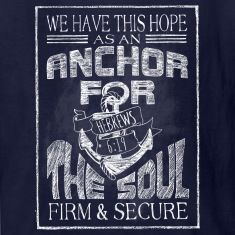 Anchor Hebrews Chalk Art Kids' Shirts