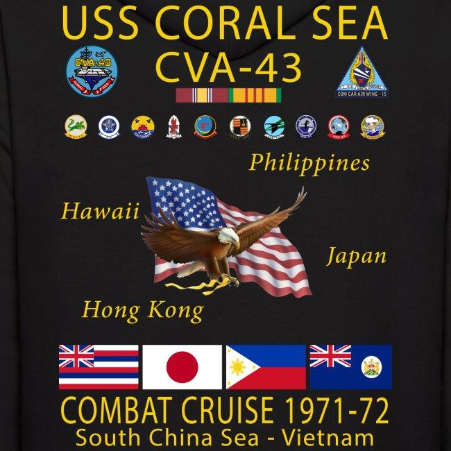 USS CORAL SEA 1971-72 CRUISE HOODIE