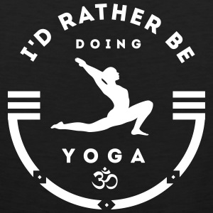 Yoga: I'd rather be doing yoga Tank Tops - Men's Premium Tank