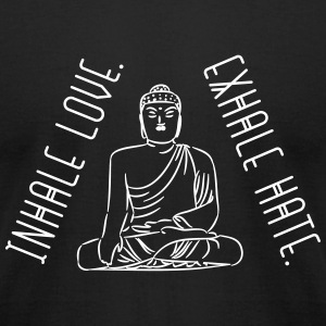 Yoga: inhale love and exhale hate T-Shirts - Men's T-Shirt by American Apparel