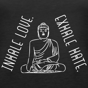 Yoga: inhale love and exhale hate Tanks - Women's Premium Tank Top