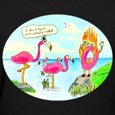 Pink Flaming-o (women's tee)