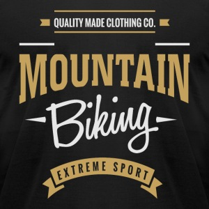 Mountain Biking T-shirt - Men's T-Shirt by American Apparel