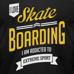 I Love Skateboarding Extreme Sport Dark T-shirt - Men's T-Shirt by American Apparel