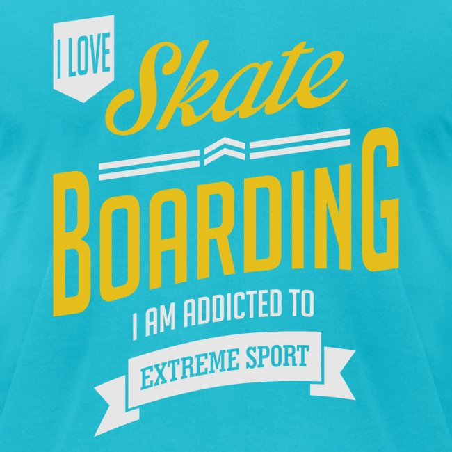 I Love Skateboarding Dark T-shirt