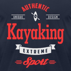 Kayaking Extreme Sport Dark T-shirt - Men's T-Shirt by American Apparel