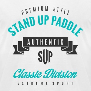 Stand Up Paddle T-Shirts - Men's T-Shirt by American Apparel