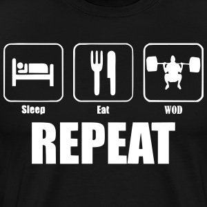 Sleep Eat WOD Repeat T-shirt - Men's Premium T-Shirt