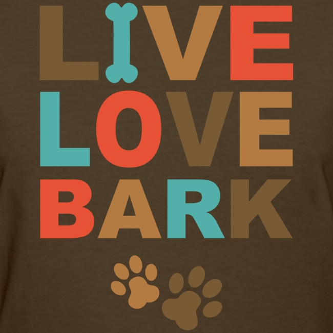 pink ink art t shirts and gifts live love bark t shirt womens t