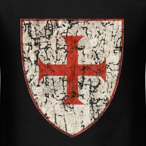 Knight Templar Grunged - Men's T-Shirt