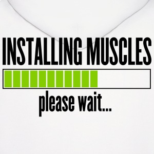 Installing Muscles, please wait Hoodies - Men's Hoodie