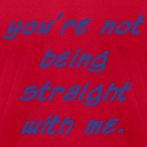 0218 - Not Being Straight - Men's T-Shirt by American Apparel