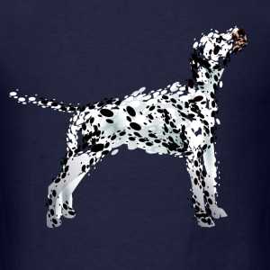 color illustration of a dalmatian - Men's T-Shirt