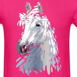 color illustration of a horse head - Men's T-Shirt