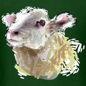color illustration of a sheep - Men's T-Shirt
