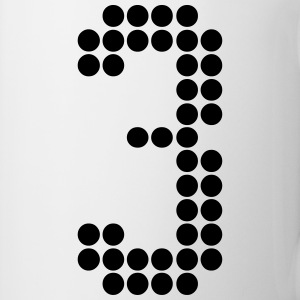 3, Numbers, Football Numbers, Jersey Numbers Mugs & Drinkware - Coffee/Tea Mug