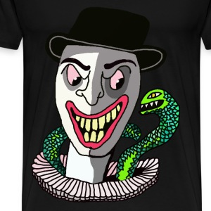Clown ans Snake  - Men's Premium T-Shirt