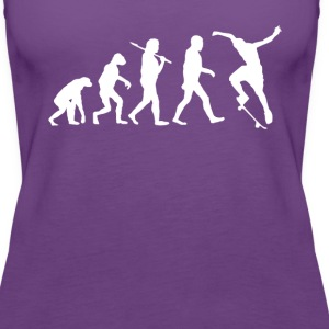 Skaters Evolution Skate T-shirt Tanks - Women's Premium Tank Top