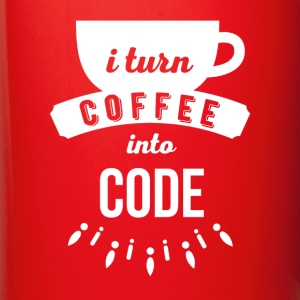 Programmers I turn coffee into code T Shirt Mugs & Drinkware - Full Color Mug