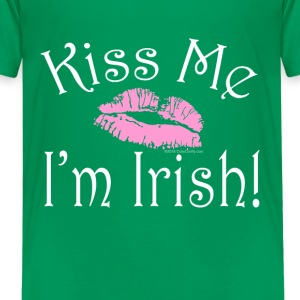 Kiss Me I'm Irish Pink Lipstick St. Patrick's Day - Kids' Premium T-Shirt