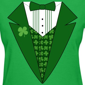 Green St. Patrick's Day Tuxedo T-shirt for Women - Women's T-Shirt