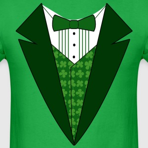 Fun Fancy Dress Green Tuxedo St. Patrick's Day - Men's T-Shirt