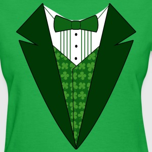 Fancy Dress Green Tuxedo St. Patrick's Day Womens  - Women's T-Shirt