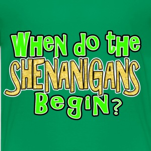 When Shenanigans Begin Funny St. Patricks Day Kids - Kids' Premium T-Shirt
