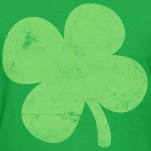 Vintage Big 4 Leaf Clover St. Patricks Day Womens  - Women's T-Shirt