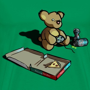 Teddy the Gamer  - Men's Premium T-Shirt