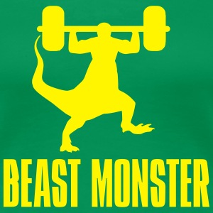 Funny Gym Beast Monster Women's T-Shirts - Women's Premium T-Shirt