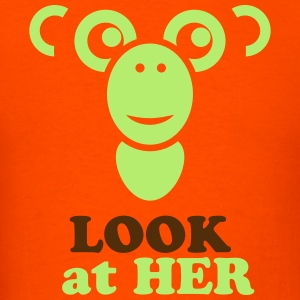 look at her - Men's T-Shirt
